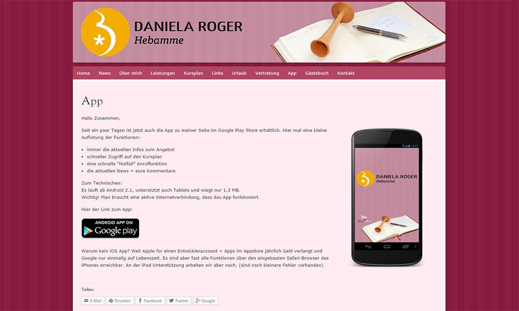 Daniela Roger | Hebamme – App erfolgreich