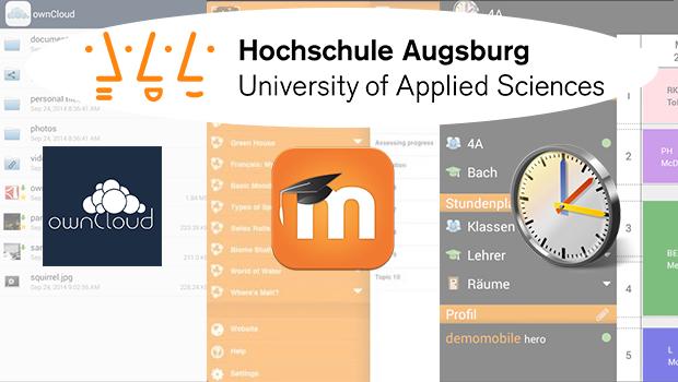 Moodle-, Untis-Mobile und ownCloud-Speicher – HS-Augsburg