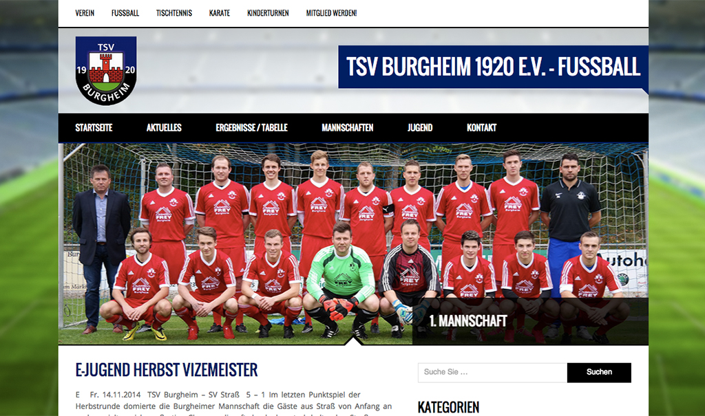 TSV Burgheim 1920 e.V. – Webseite online